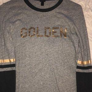 J. Crew 3/4 sleeve golden tee